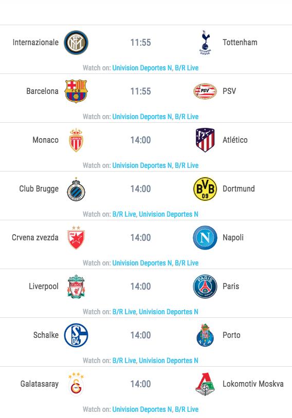 Calendario Champion League.Grupos Y Calendario De Juegos De La Uefa Champions League